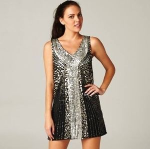 RICKETY RACK Diamond Embellished Gatsby Dress